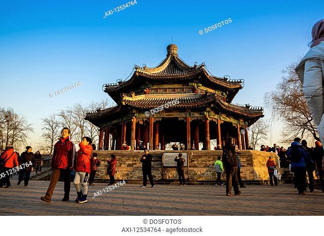 Pavilion near the 17 Arch Bridge, The Summer Palace; Beijing, China