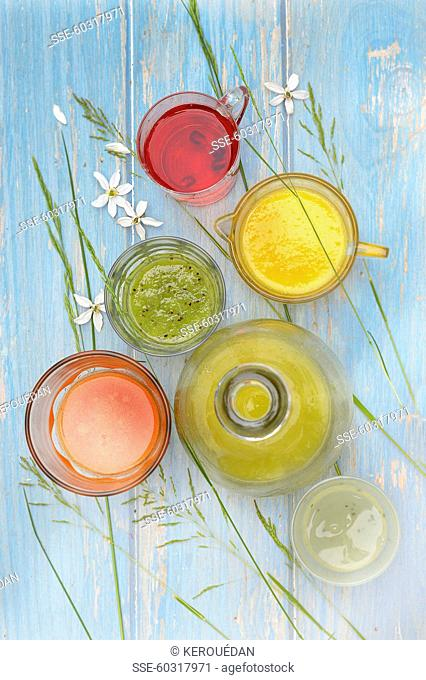 Assortment of veggie juices