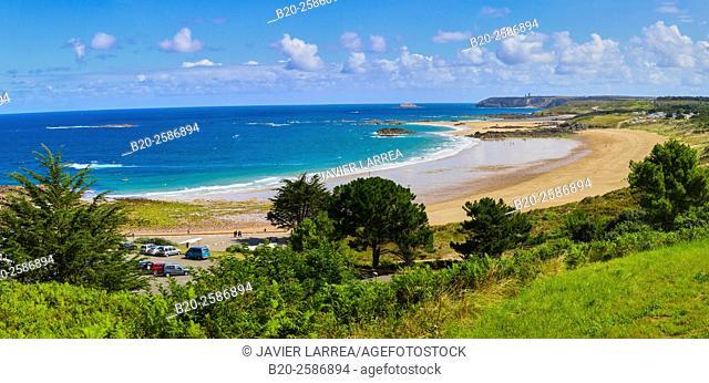 Pleherel Beach, Emerald Coast, Cap Frehel, Côtes d'Armor, Bretagne, Brittany, France