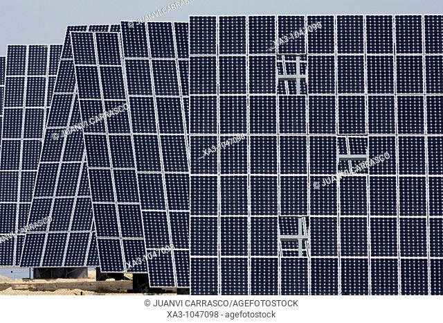 Electric solar panels, Murcia, Spain
