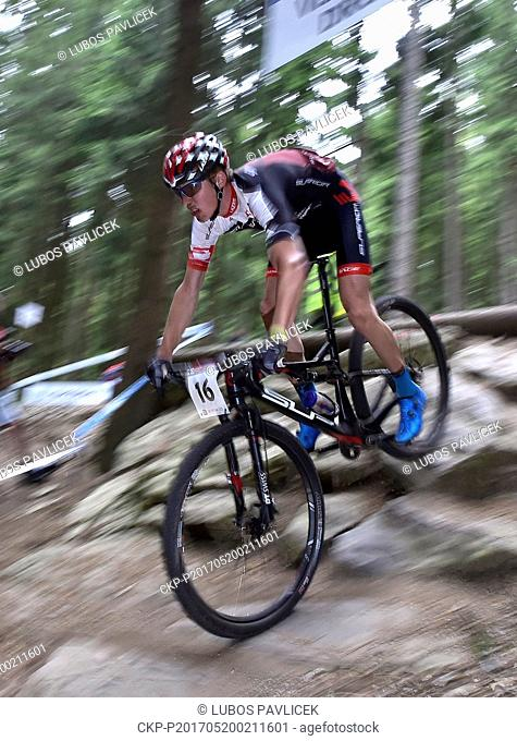 Czech Matej Prudek during the Mountain bike cross country World Cup event in Nove Mesto na Morave, May 20, 2017. (CTK Photo/Lubos Pavlicek)