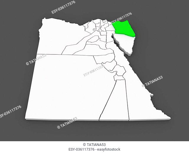 Map of north sinai Stock Photos and Images | age fotostock