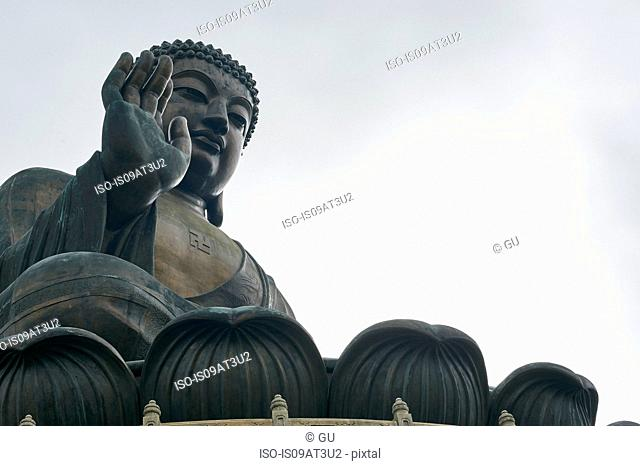 Big Buddha, Lantau Island, Hong Kong, low angle view
