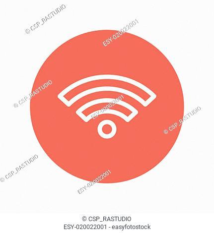 Wifi thin line icon