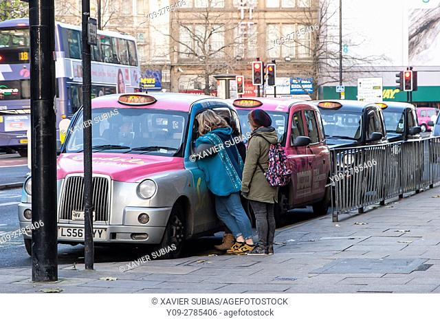 Taxis, Manchester, England, United Kingdom