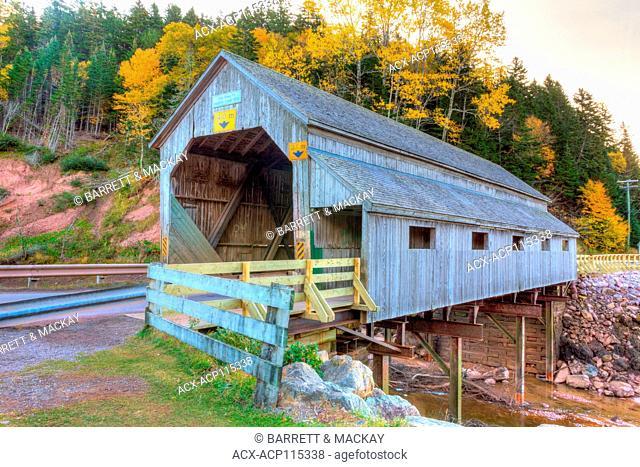 Irish River#1 Covered Bridge, Vaughan Creek, St. Martin's, New Brunswick, Canada