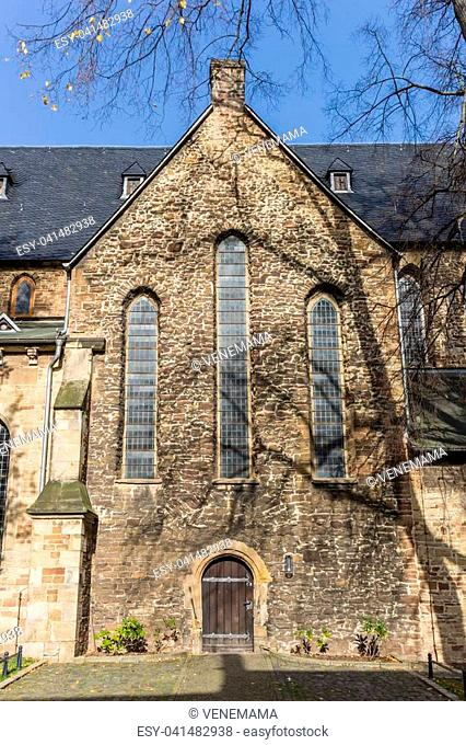 Facade of the historic Sylvestri church in Wernigerode, Germany