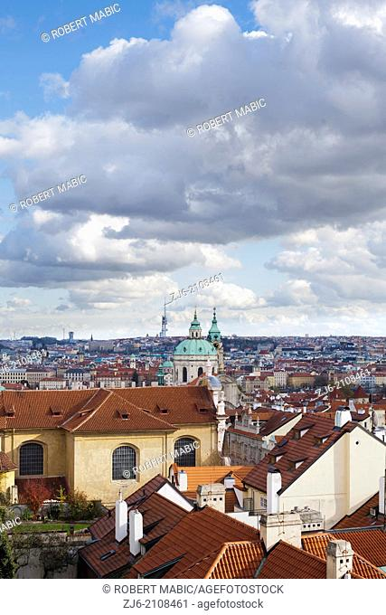Prague. Old town view from the castle