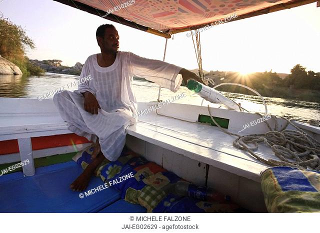 Egypt, Aswan, Felucca and Nile River