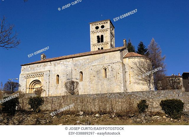 Romanesque Church of Santa Ceciia of Mollo, Ripolles, Girona province, Catalonia, Spain