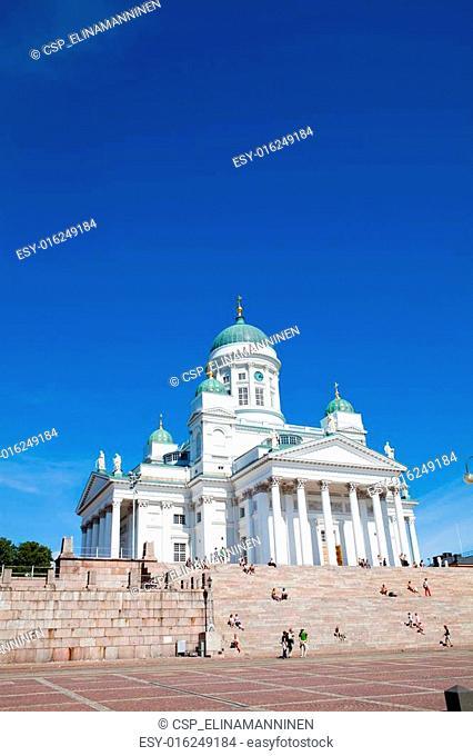 Tuomiokirkko church in Helsinki, Finland