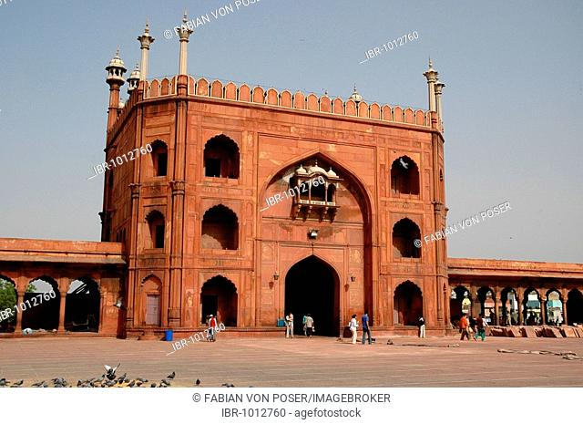 Grand Mosque, Delhi, India, Asia
