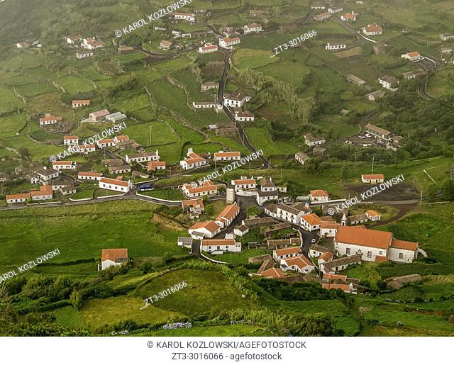 Fajazinha, elevated view, Flores Island, Azores, Portugal