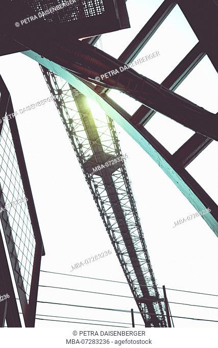 The transporter bridge near Bilbao, aerial transfer bridge, UNESCO World Heritage Site