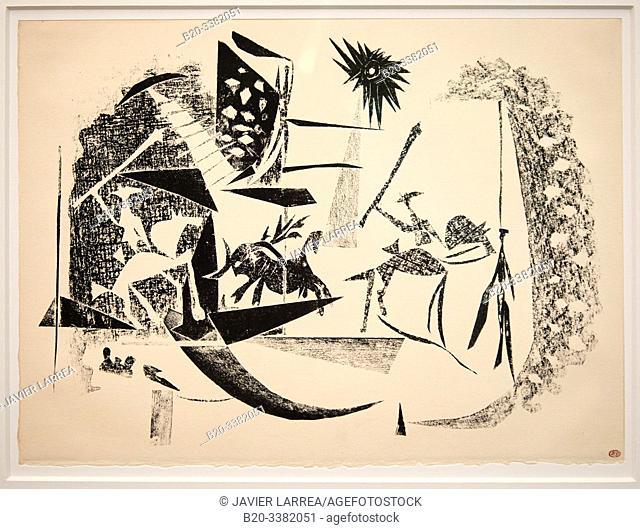 """Corrida au soleil noir"", 1946, Pablo Picasso, Picasso Museum, Paris, France, Europe"