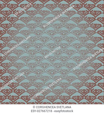 Vector vintage floral pattern, seamless background. Silver silk pattern can be used for wallpaper, pattern fills, web page background, surface textures