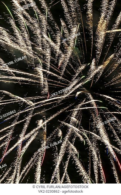 Gold firework , Christmas celebration