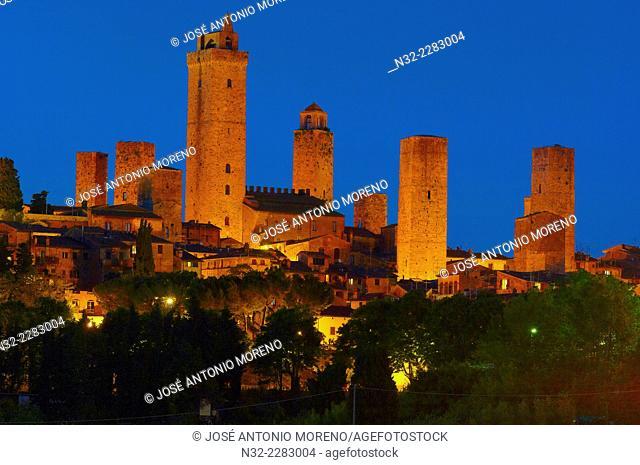 San Gimignano, UNESCO World Heritage, Siena province, Tuscany, Italy
