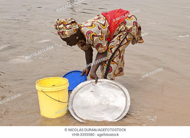 Senegalese woman working