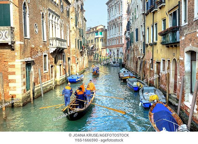 Voga Veneta, rowing club, Dorsoduro, Venice, Veneto, Italy