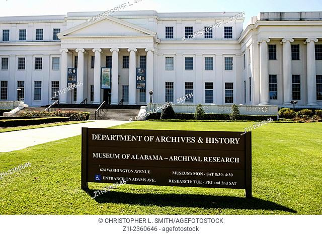 The Department of Archives and History building in Montgomery Alabama