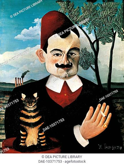 Portrait of Pierre Loti, pseudonym of Louis Marie Julien Viaud, French writer, 1891, by Henri Rousseau (1844-1910).  Zürich, Kunsthaus (Fine Arts Museum)