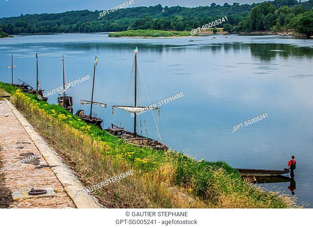 BREHEMONT PORT ON THE LOIRE, INDRE ET LOIRE, (37), CENTRE VAL DE LOIRE REGION, FRANCE