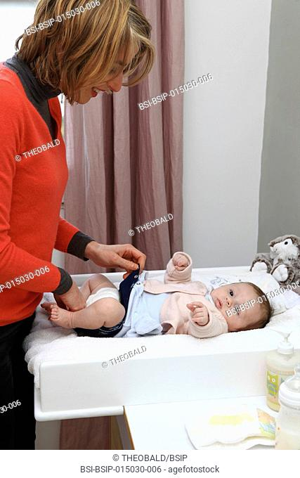 2 and a half-month old girl. Changing table