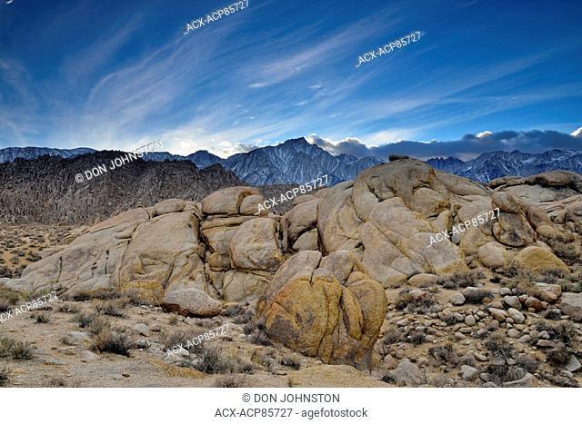 Sierra Nevaa Range- Lone Pine Peak, BLM Alabama Hills Recreation Area, Lone Pine, California, USA