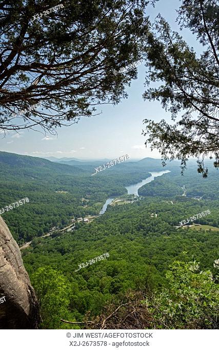 Chimney Rock, North Carolina - Lake Lure, from Chimney Rock State Park