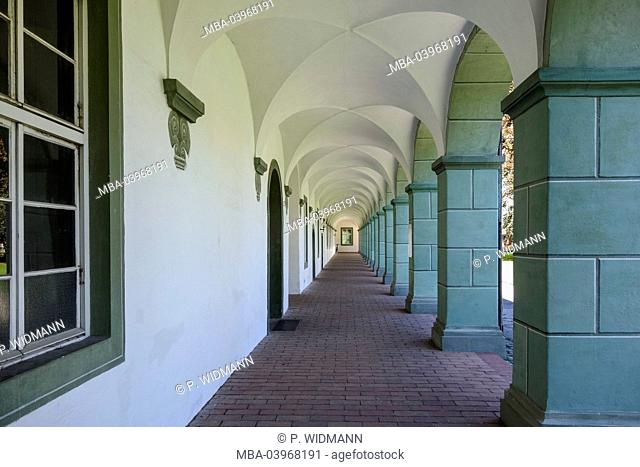 Cloister of Benediktbeuern, Upper Bavaria, Bavaria, Germany