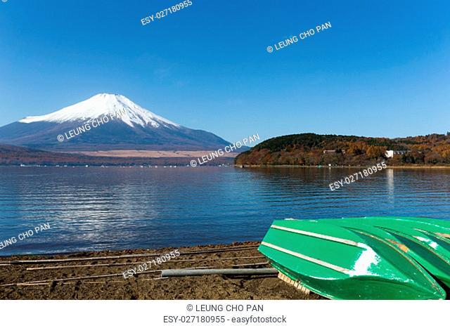 mountain Fuji and Lake Yamanaka