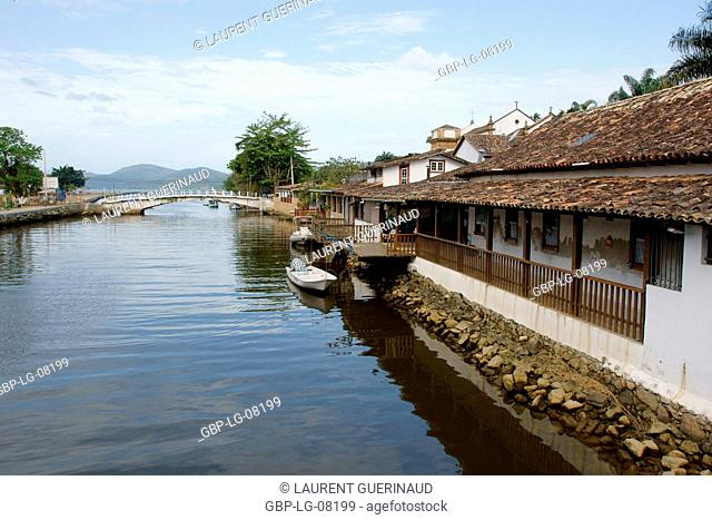 Laugh, catwalk, Historical Center, City, Paraty, Brazil