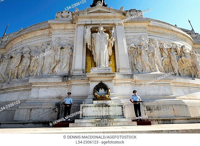 Tomb of Unknown Soldier Victor Emmanual Monument Rome Italy IT EU Europe