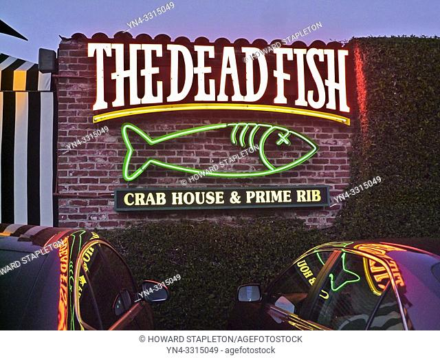 """The Dead Fish"". A restaurant in Crockett, California"