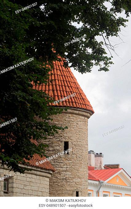 Old city historical street Tallinn Estonia