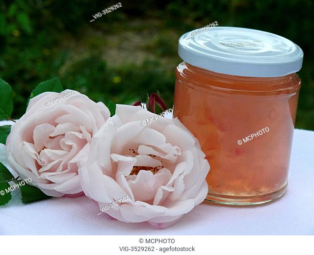 home made rose jelly - 26/05/2009