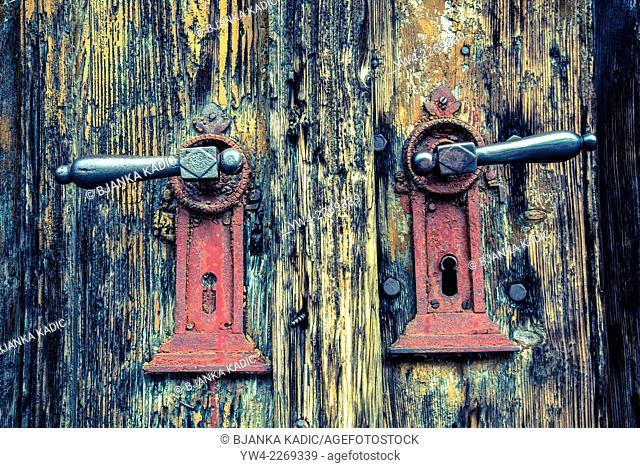 Red door handles