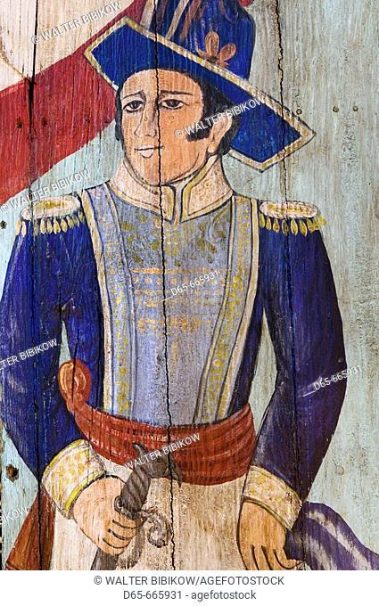MEXICO-Guanajuato State-Rancho Viejo: Rancho Viejo Arts Market-Mexican Folk Painting