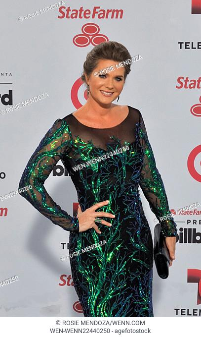 2015 Billboard Latin Music Awards presented by State Farm on Telemundo at the BankUnited Center - Arrivals Featuring: Sonya Smith Where: Miami, Florida