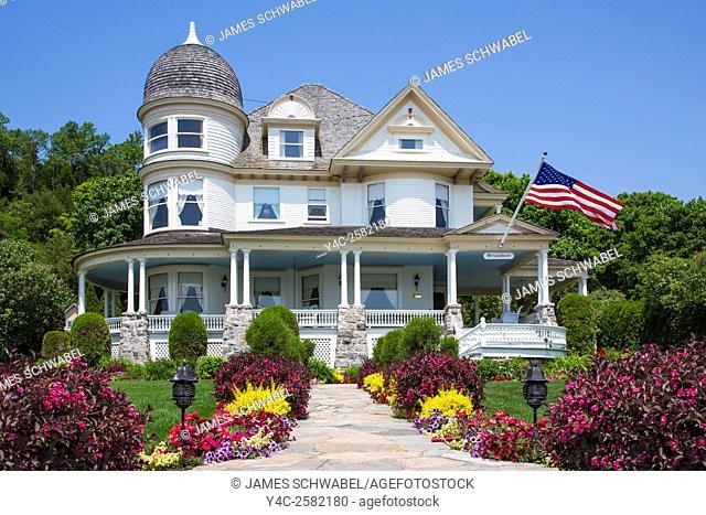 Victorian house on Mackinac Island in Michigan