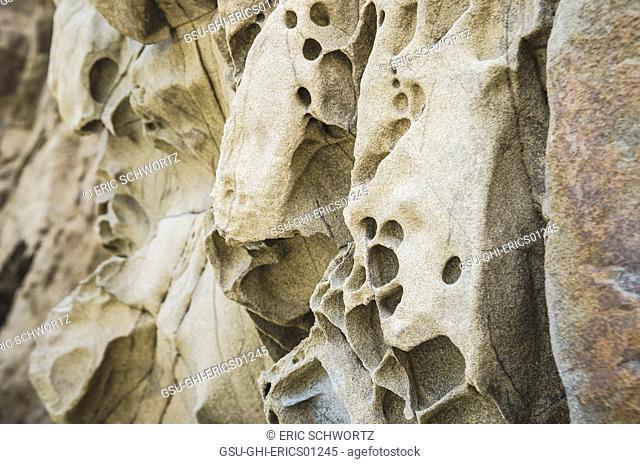 Eroded Rock Formations, Pfeiffer Beach, Big Sur, California, USA