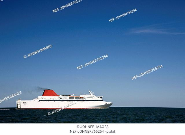 A ferry on the way to Gotland