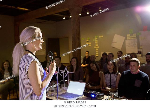 Speaker leading presentation