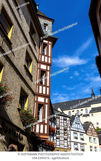 Timbered houses in the beautiful village of Cochem, Rhineland-Palatinate, Germany, Europe