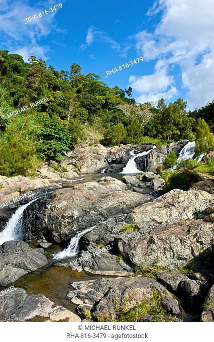 Waterfalls of Ciu on the east coast of Grande Terre, New Caledonia, Melanesia, South Pacific, Pacific