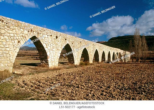 Alpuente Roman aqueduct. Los Serranos. Valencia. Spain