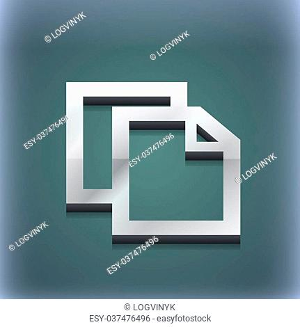 Edit document icon symbol. 3D style. Trendy, modern design with space for your text illustration. Raster version