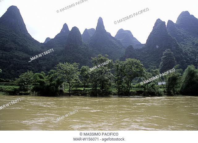 asia, china, guang xi, li river
